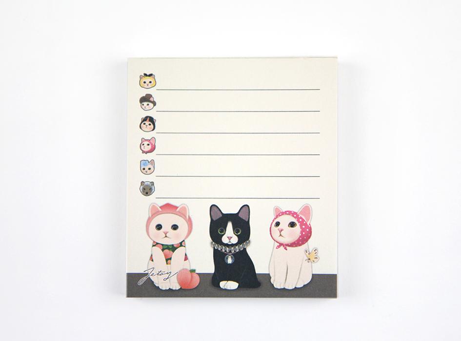 猫のメモパッド3 トリオ