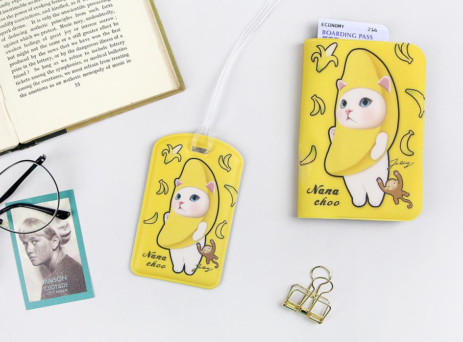 猫のパスポートケース5 バナナと<br>お揃いになっています♪