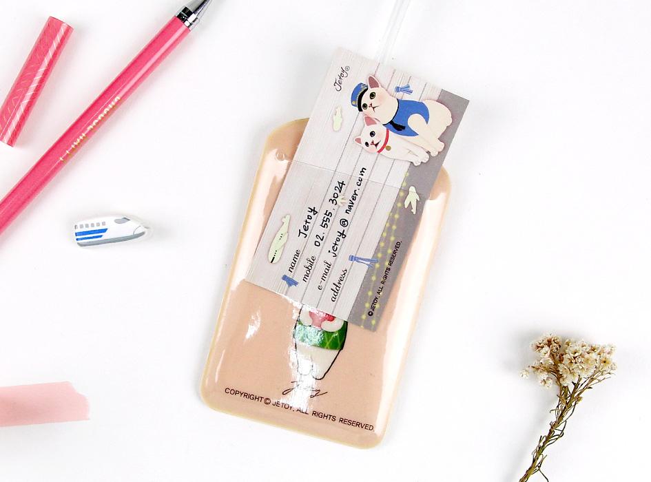 裏面には透明のポケットがあり、<br>名前などを書いて入れておくことができます♪<br>(※写真は他の柄のものです。)