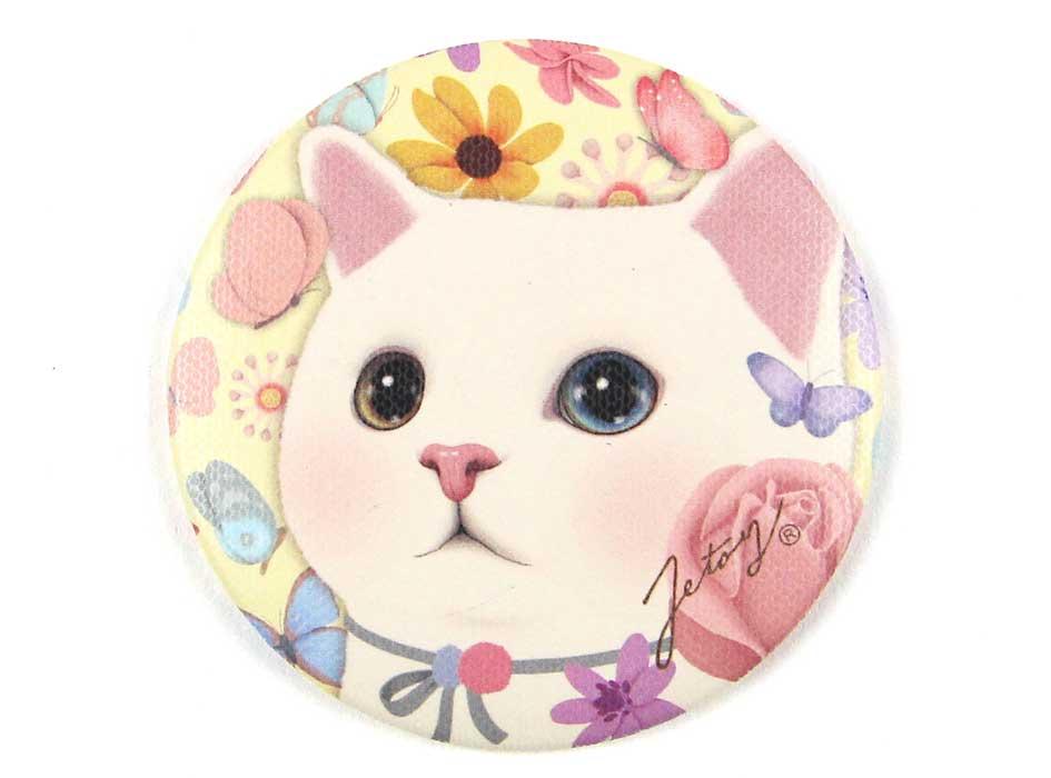猫のミニミラー フラワー