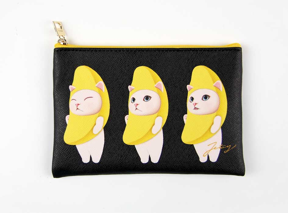 猫のスリムポーチ3 バナナ