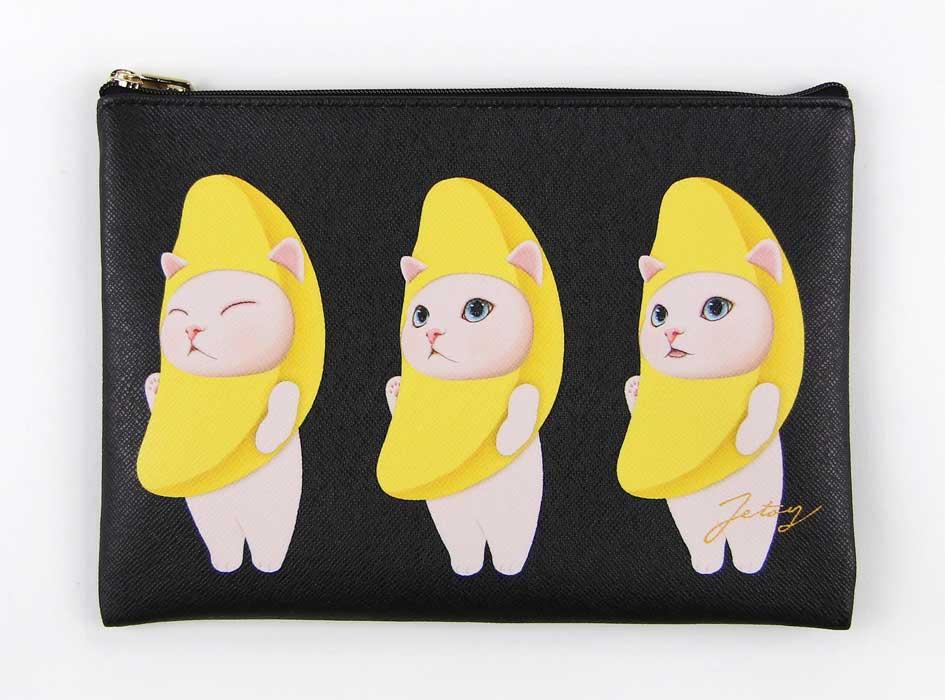 かわいらしく3匹並んだバナナ猫♪<br>細かな表情の違いが愛らしい!