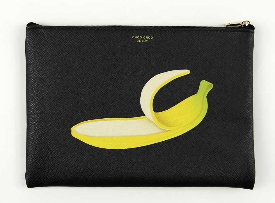 裏面にはリアルなバナナが登場!<br>遊び心満点の演出です♪