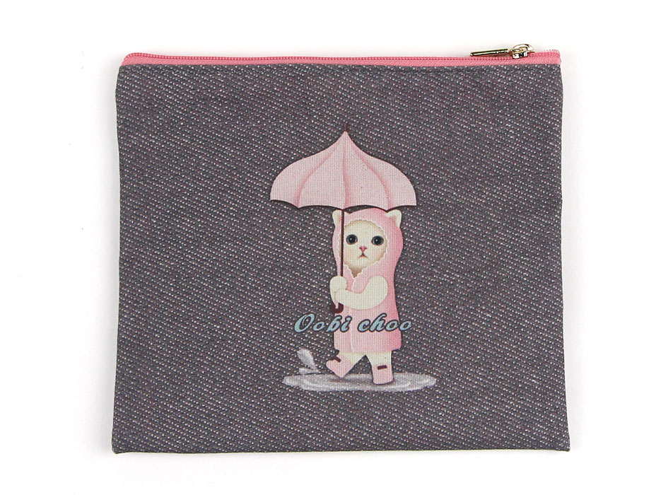 裏には、傘をさした雨ふり猫が?? とってもかわいいです☆<br>
