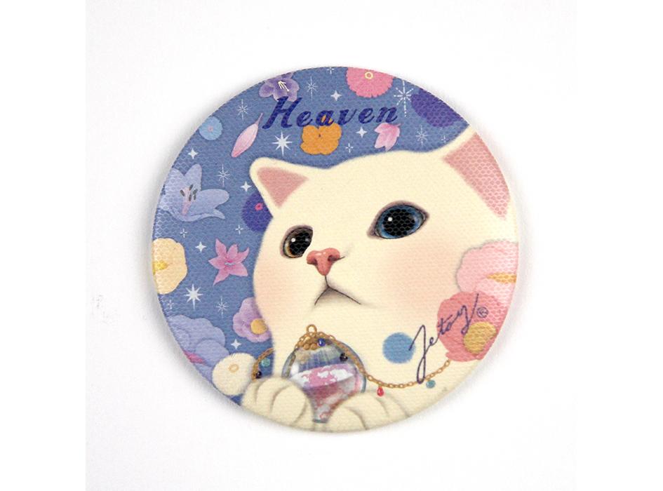 淡いブルーと白猫choo chooの<br>優しい色合いが、かわいらしい!