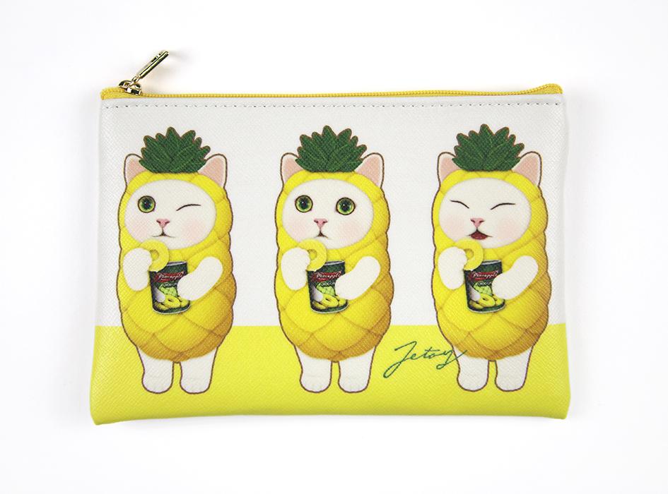 猫のスリムポーチ4 パイナップル