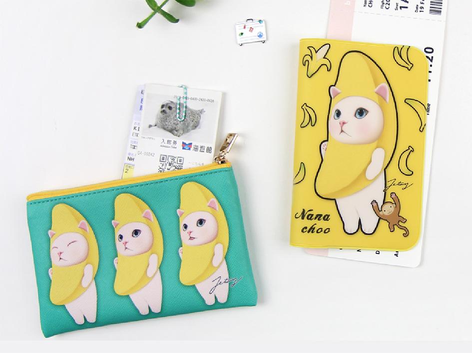 大人気!バナナ柄のパスポートケース♪<br>鮮やかなイエローにテンションも上がります☆